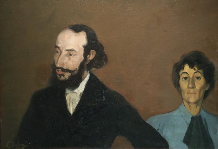 Игнасио Сулоага. Шарль Морис с женой. 1896. Холст, масло. Музей Игнасио Сулоаги, Кастильо-де-Педраса.