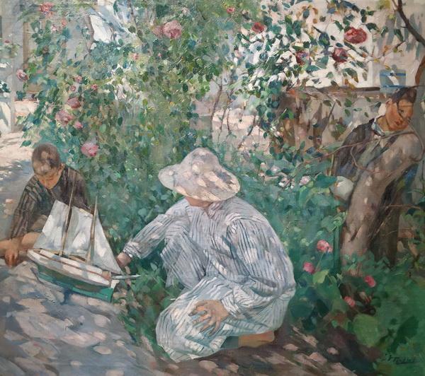 Игнази Мальол. Кусты роз (Коста-Брава). 1920. Холст, масло. Национальный музей искусств Каталонии, Барселона.