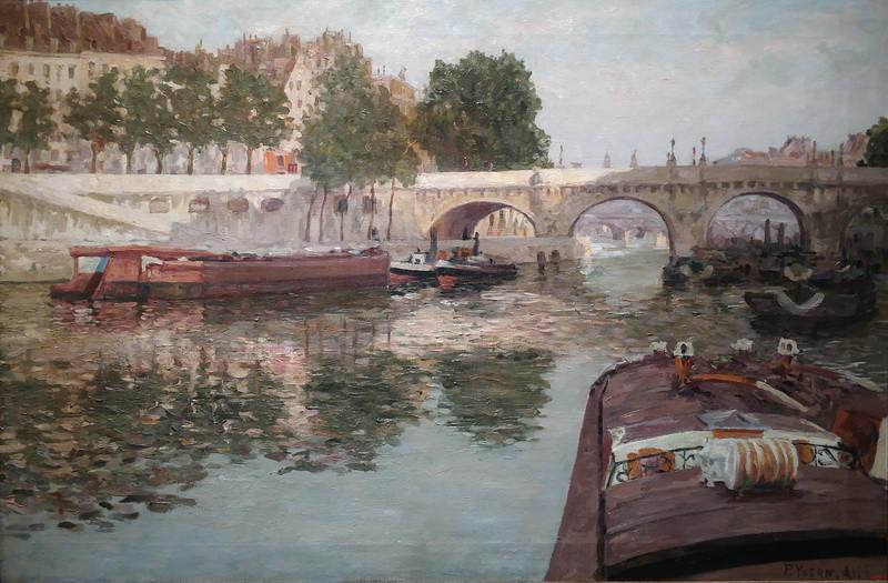 Пере Изерн. Сена. Париж, около 1900-1901. Холст, масло. Национальный музей искусств Каталонии, Барселона.