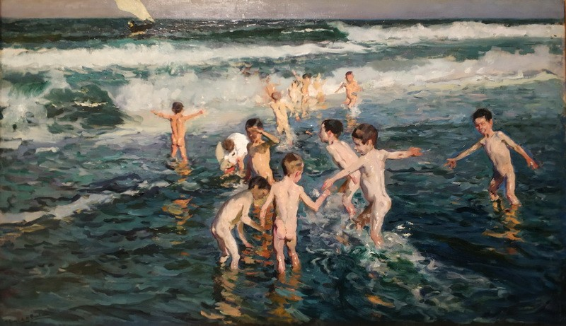 Хоакин Соролья. Сорванцы на пляже. Валенсия, 1899. Холст, масло. Музей изящных искусств Астурии.