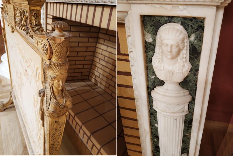 Элементы декора камина и каминного экрана.