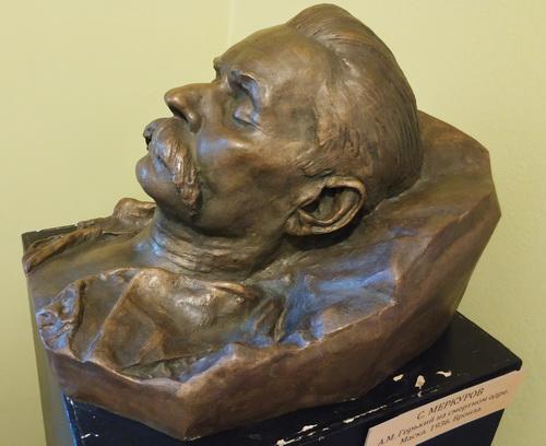 С.Меркуров. Посмертная маска М.Горького. Бронза. 1936.
