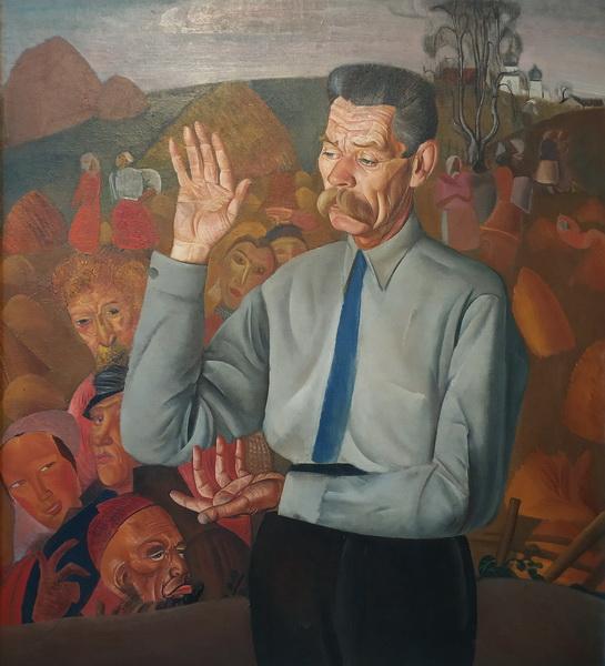 Б.Д.Григорьев. Портрет М.Горького, 1926. Холст, масло.