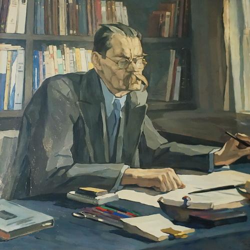 П.Корин. Портрет М.Горького. 1937. Холст, масло.