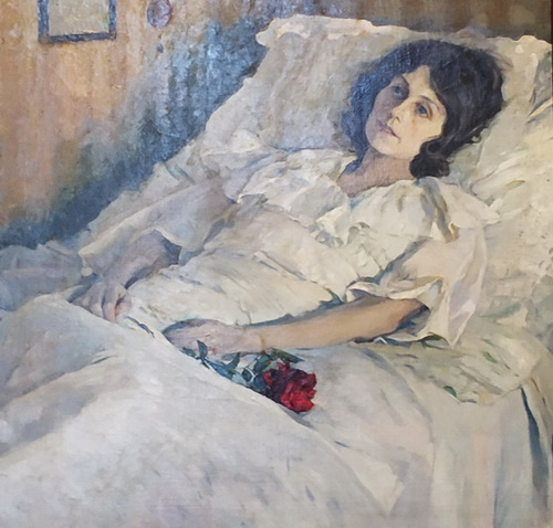 М.Нестеров. Больная девушка, 1928. Холст, масло.