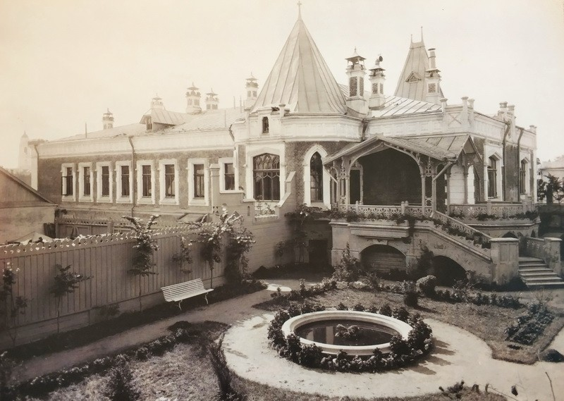 Парковый фасад особняка А. А. Бахрушина. Фото 1900-е.