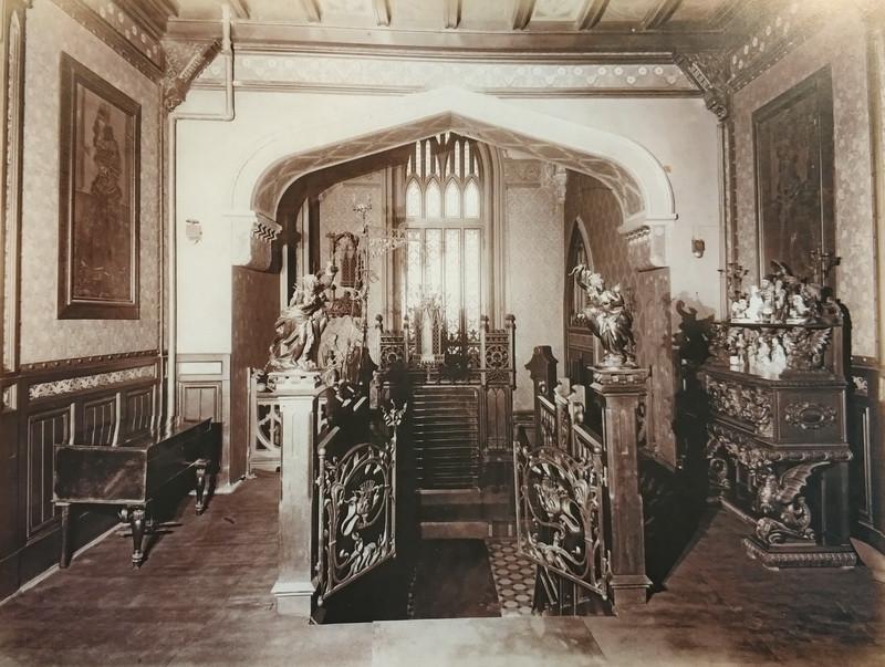 Интерьер вестибюля особняка Бахрушина. Фото 1903.