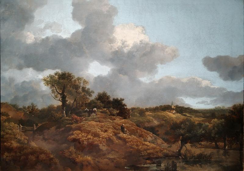 Томас Гейнсборо. Лесной пейзаж с сидящим пастухом. Около 1746-1747. Дом-музей Гейнсборо, Саффолк.