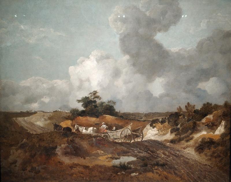 Томас Гейнсборо. Пейзаж с повозкой на извилистой дороге. Около 1746-1747. Дом-музей Гейнсборо, Саффолк. Передано на хранение из частной коллекции.