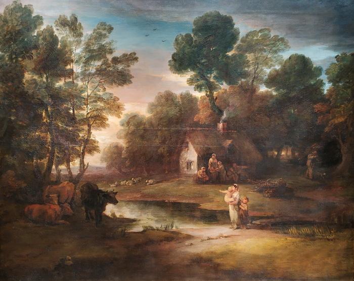 Томас Гейнсборо. Лесной пейзаж со стадом у водоема. 1782. Холст, масло. Дом-музей Гейнсборо, Саффолк.