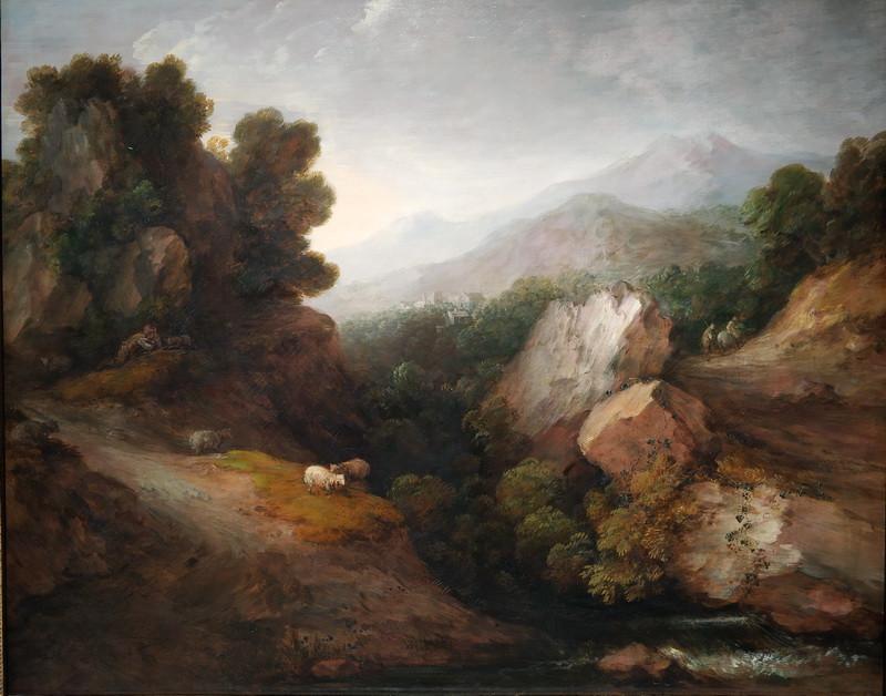 Томас Гейнсборо. Скалистый пейзаж. 1783. Холст, масло. Национальные галереи Шотландии, Эдинбург.