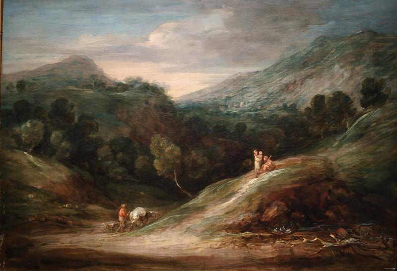 Томас Гейнсборо. Пейзаж с холмами и лесными просторами. Около 1786. Холст, масло. Дом-музей Гейнсборо, Саффолк.