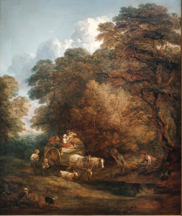 Томас Гейнсборо. Рыночная повозка. 1786.  Холст, масло. Национальная портретная галерея, Лондон.