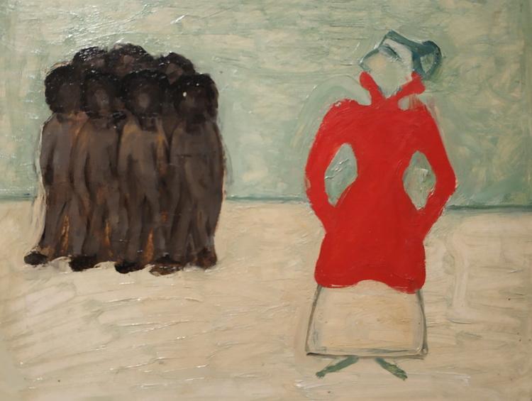 Волдемар Матвей. Красная и черные. Этюд. 1913. Холст, масло. Латвийский национальный художественный музей, Рига.