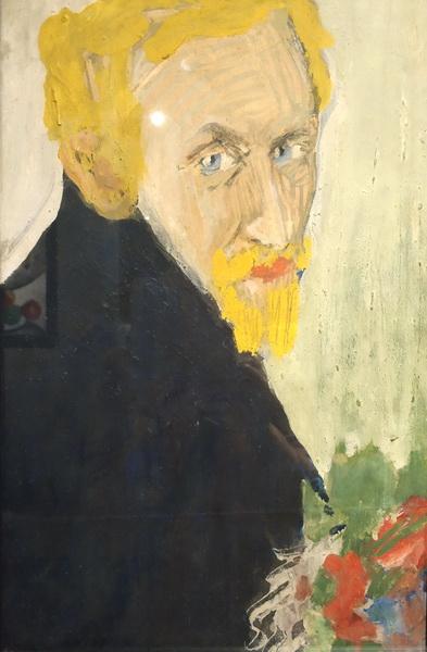 Эдуард Спандиков. Мое я (Автопортрет). 1910-1911. Картон, темпера, графит, гуашь. ГРМ.