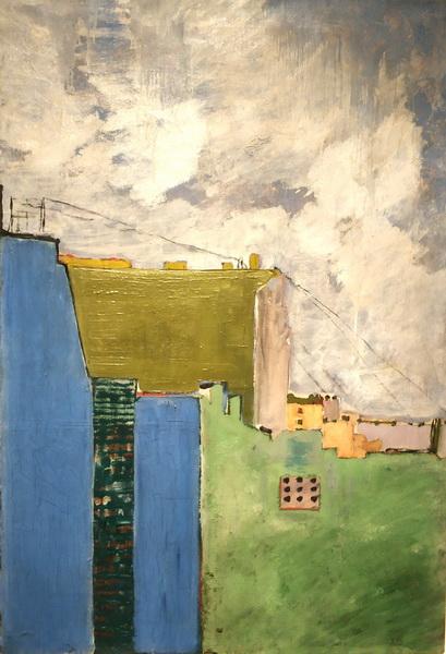 Эдуард Спандиков. Городской пейзаж. Конец 1910-х – не позднее 1920. Холст, масло. ГРМ.