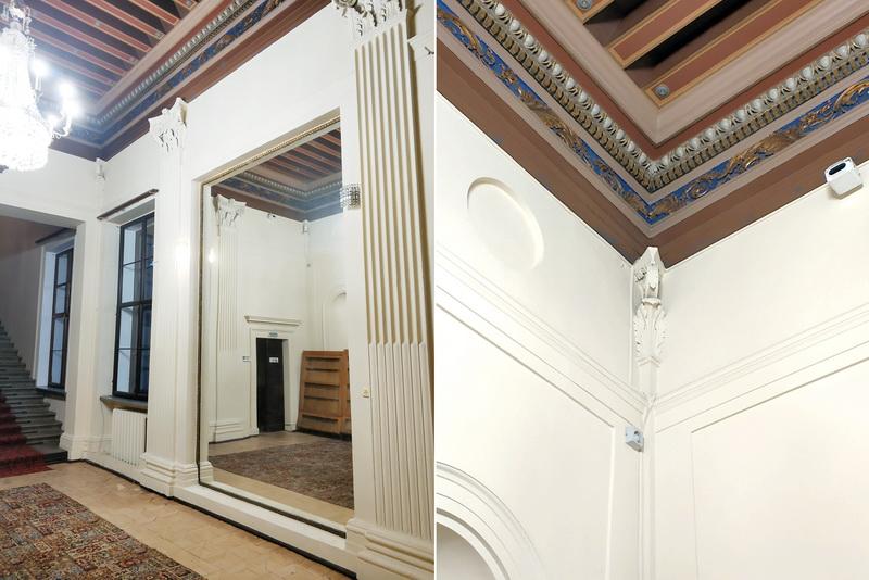 Особняк Тарасова. Холл первого этажа – зеркало и четверти пилястр, как в палаццо Тьене.