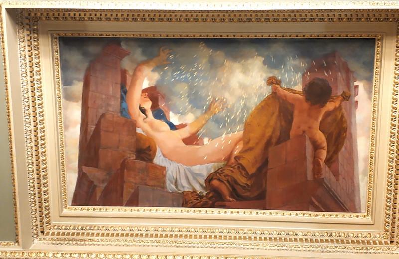 Зевс проникает к Данае в виде золотого дождя. Так появился сын Данаи и Зевса Персей.