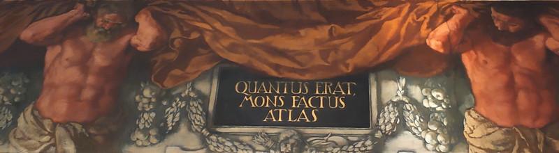 Подпись на фризе: «Так появились горы Атлас».