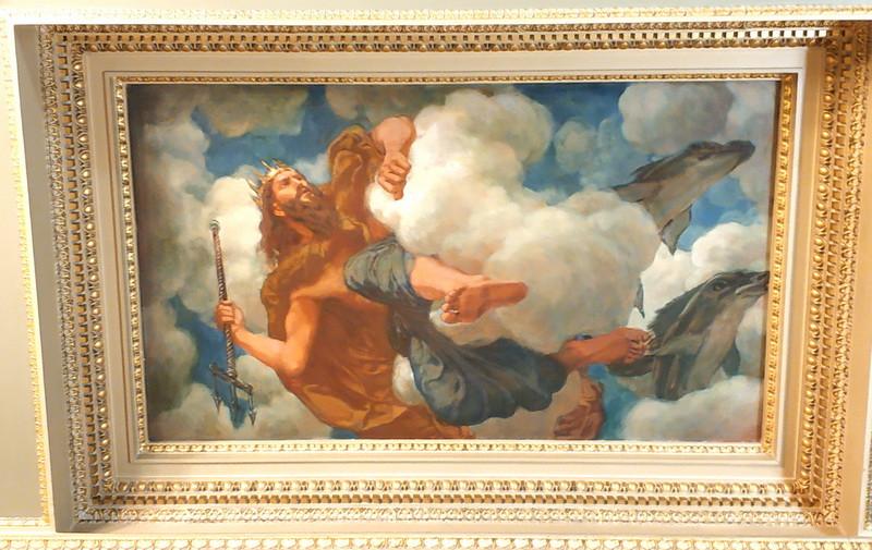 Бог морей Посейдон, пославший чудовище на растерзание Андромеды.