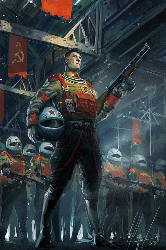 Nuclear Russian Soldier by Ignacio Bazan Lazcano