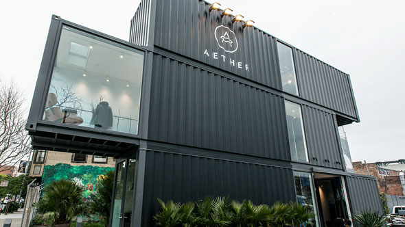 3x 40 FT Shipping Container Store, - Aether Apparel, Envelope A+D, - San Francisco, CA,   (3)