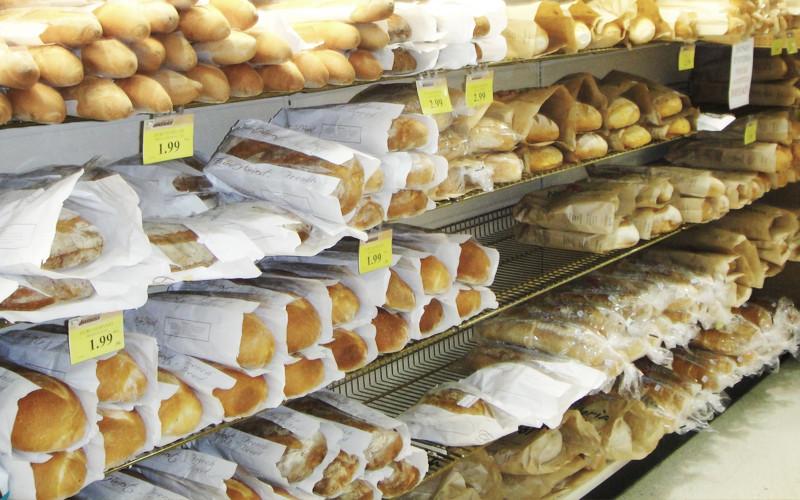Выкладка хлеба в Канаде