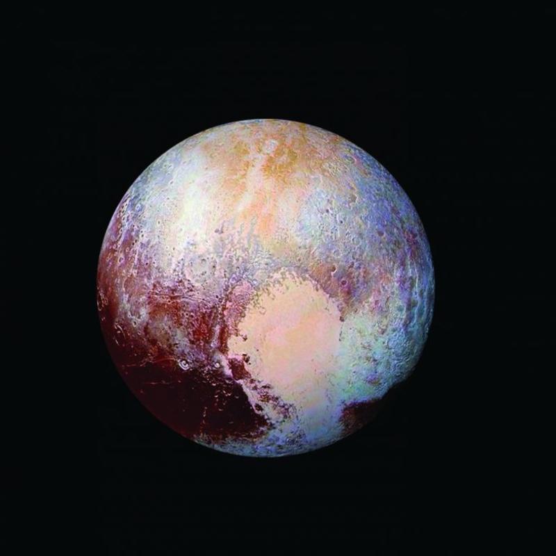Таким космический аппарат NASA «Новые горизонты» увидел Плутон в 2015 году. Фото: NASA/JHUAPL/SwRI