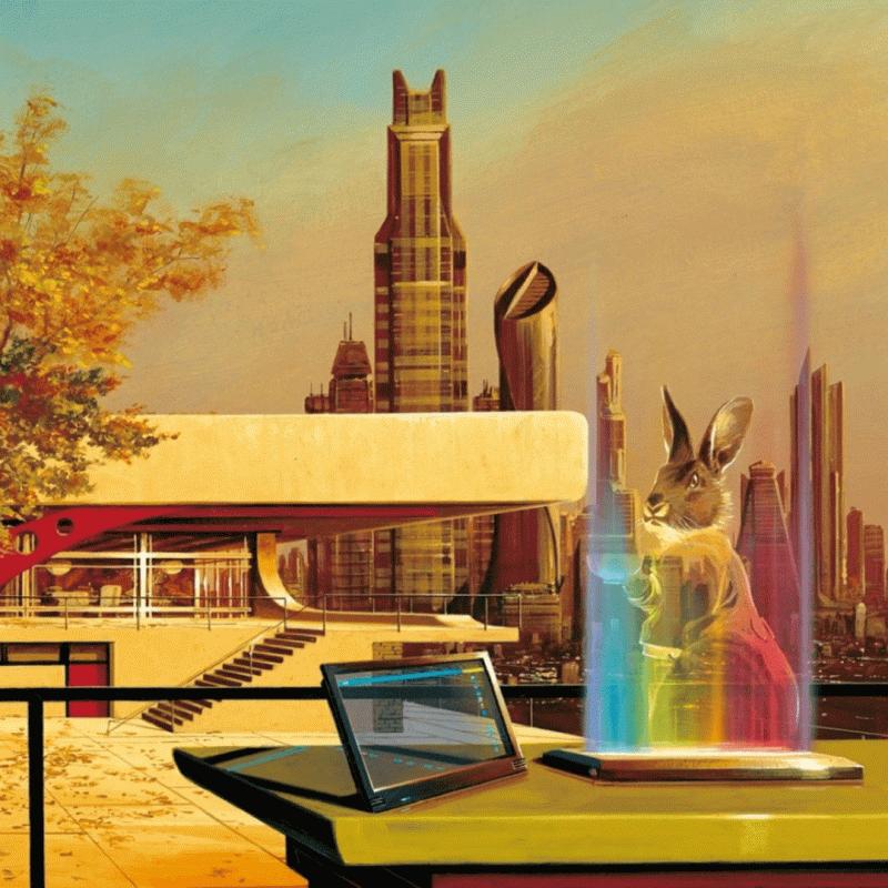 Фрагмент обложки книги Вернора Винджа «Конец радуг». Источник: amazon.co.uk