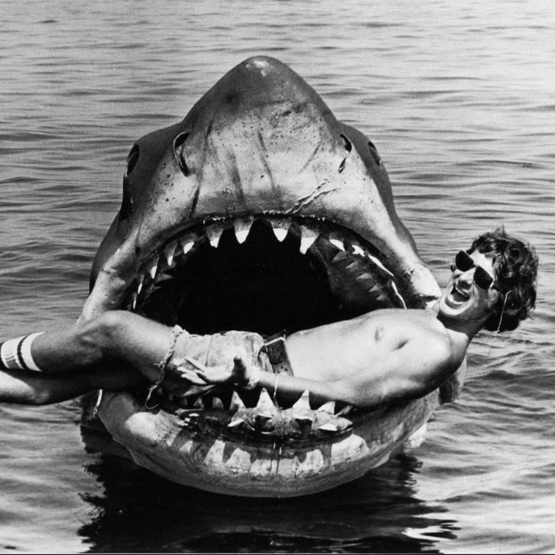 Стивен Спилберг на съемках фильма «Челюсти». Фото: imdb.com