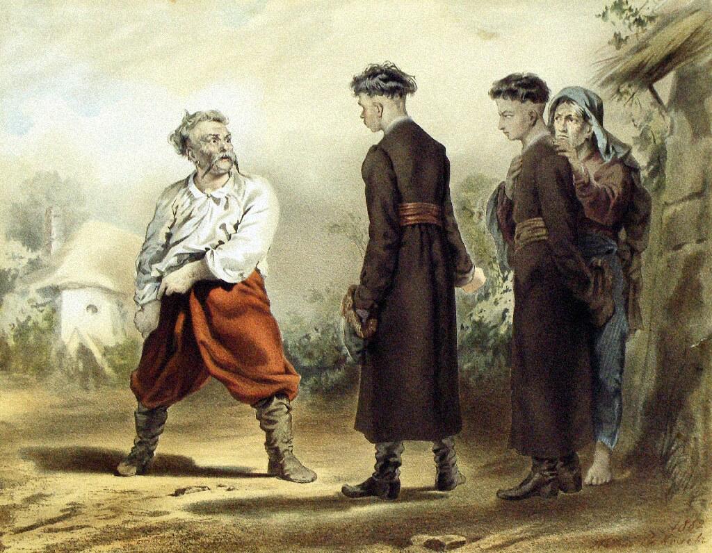 Еще один пример совсем не детского, но школьного чтения — «Тарас Бульба» Николая Гоголя
