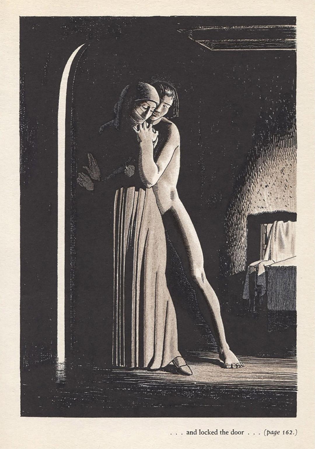 Иллюстрация к книге Джованни Боккаччо «Декамерон», художник Рокуэлл Кент, 1949. Источник: William Augustus Brewer Bookplate Collection