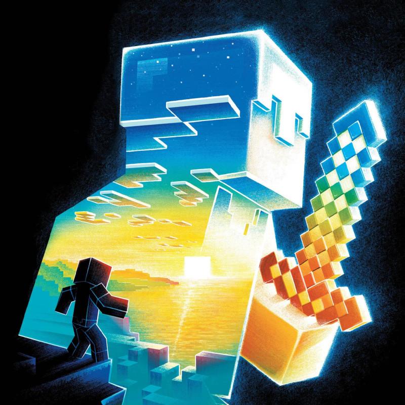 Иллюстрация с обложки книги Макса Брукса «Minecraft: Остров», художник Ian Wilding
