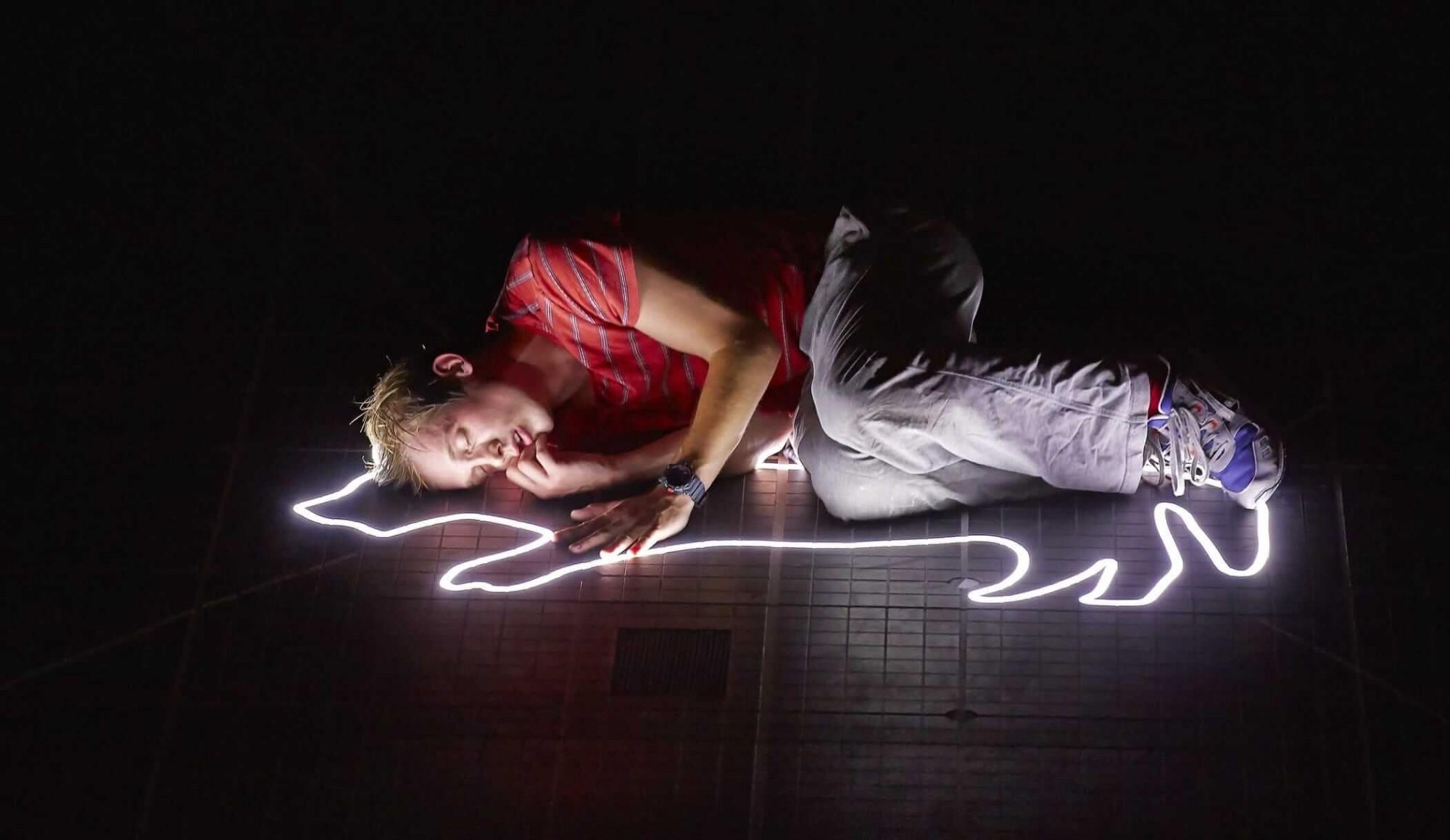 Фрагмент спектакля Лондонского королевского театра «Загадочное ночное убийство собаки» по одноименной книге Марка Хэддона