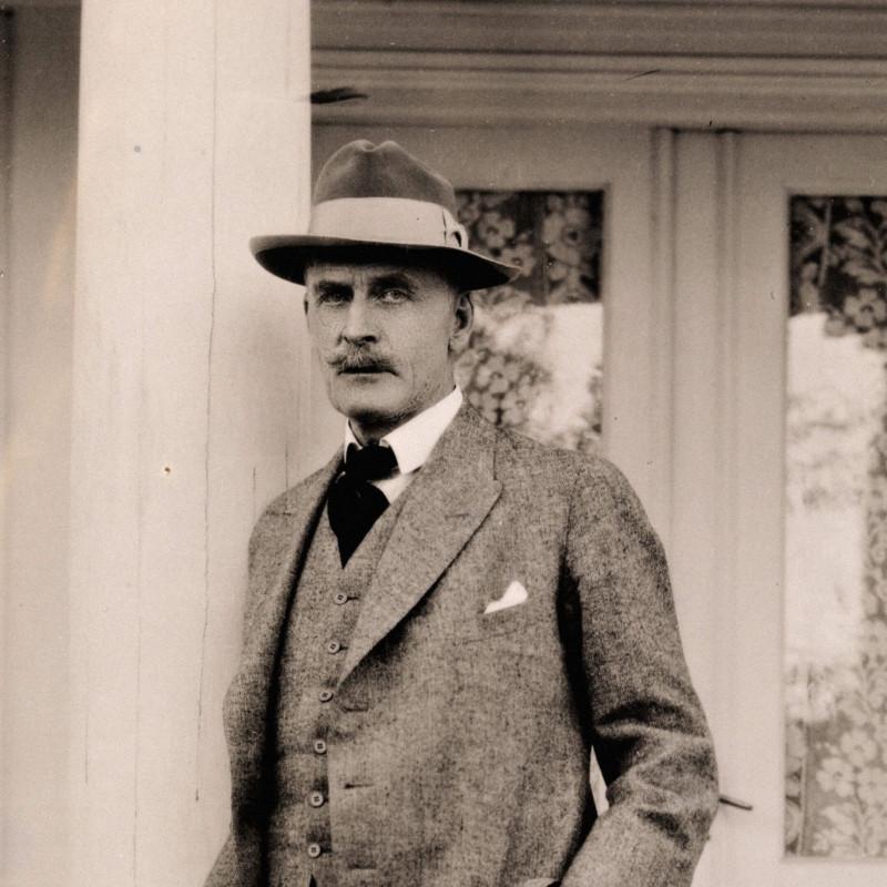 Портрет Кнута Гамсуна, Норхольм, 1927 г. / Фотограф Андерс Бир Вильс, flickr.com