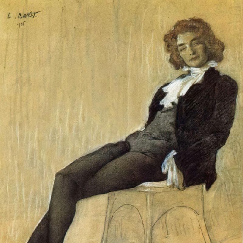 Портрет Зинаиды Гиппиус, которая сознательно использовала мужские псевдонимы. Художник Леон Бакст, 1906 год