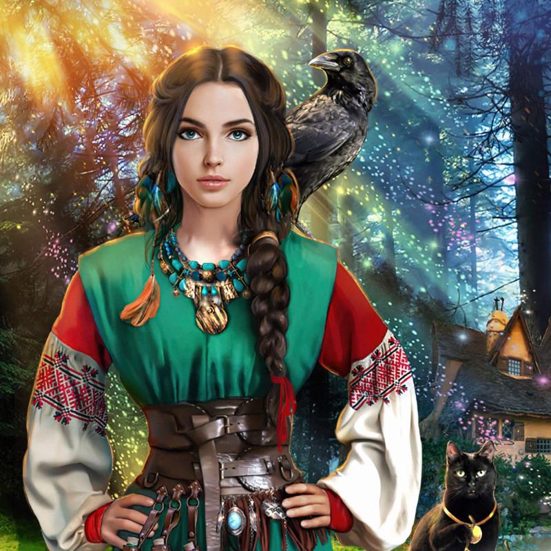Иллюстрация с обложки книги Елены Звездной «Лесная ведунья»