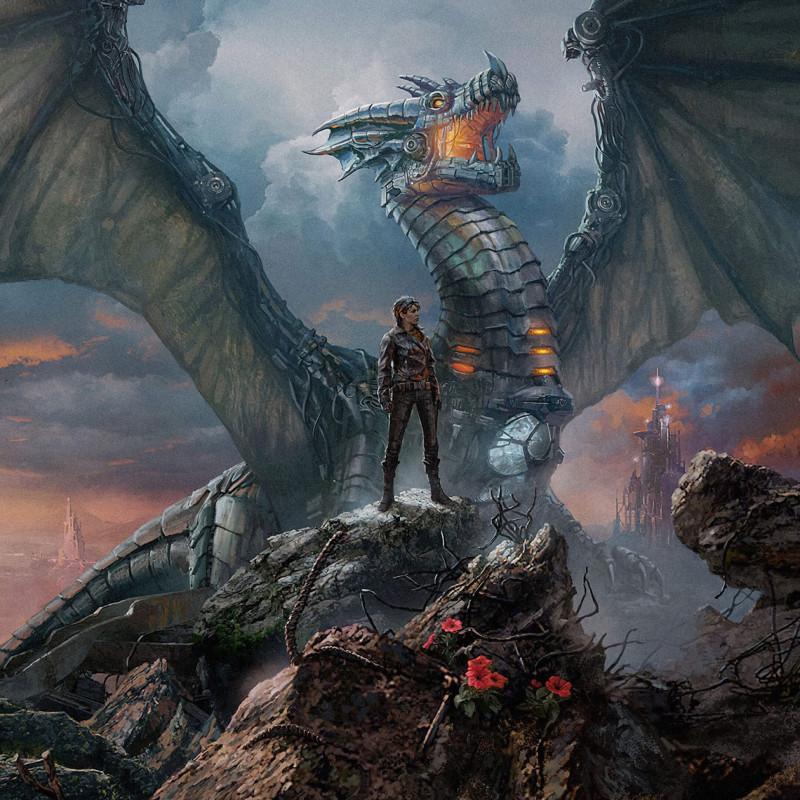 Иллюстрация для обложки романа Майкла Суэнвика «Мать железного дракона». Художник Сергей Шикин
