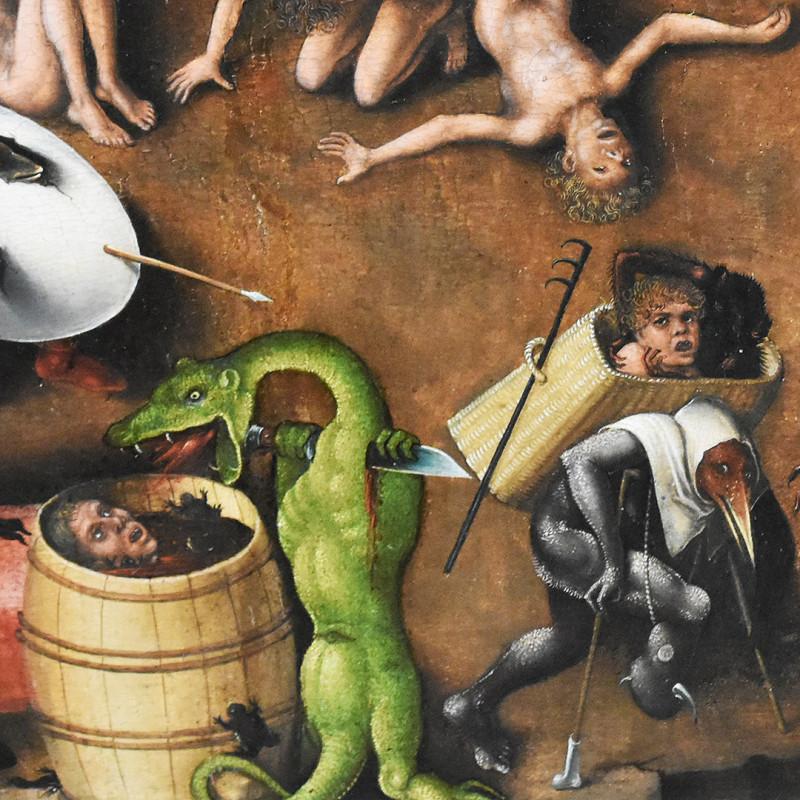 Фрагмент триптиха Лукаса Кранаха Старшего «Страшный суд» (копия одноименного триптиха Иеронима Босха), ок. 1524. Берлинская картинная галерея. В нашей лотерее творится такая же вакханалия