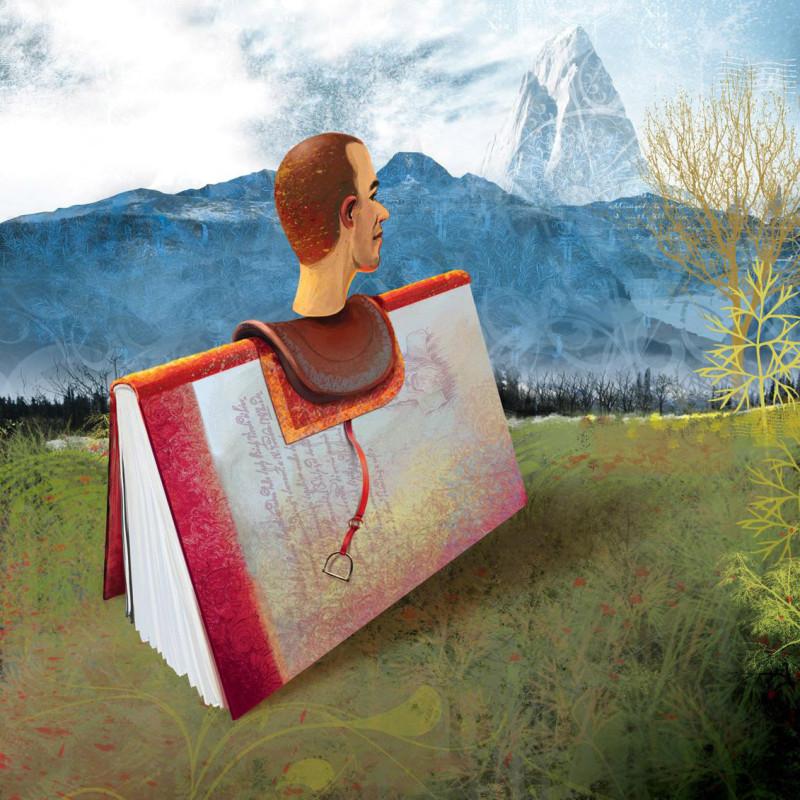 Фрагмент рекламного плаката португальского книжного магазина Saída de Emergência. Агентство Fuel
