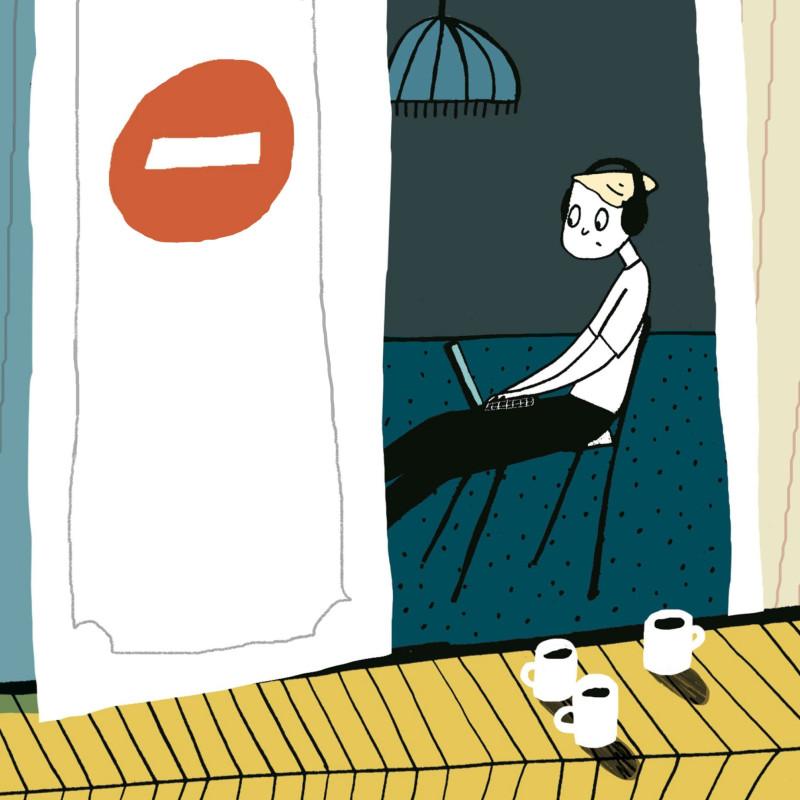 Иллюстрация Ольги Пташник с обложки книги Елены Соковениной «П. Осликов продолжает хотеть как лучше»