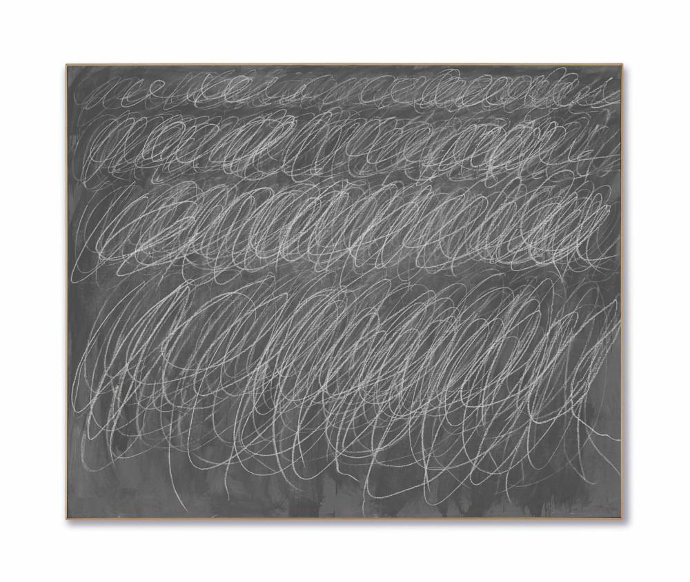 Сай Твомбли (1928-2011) «Без названия». Картина продана за 69,6 миллионов долларов. Источник: christies.com