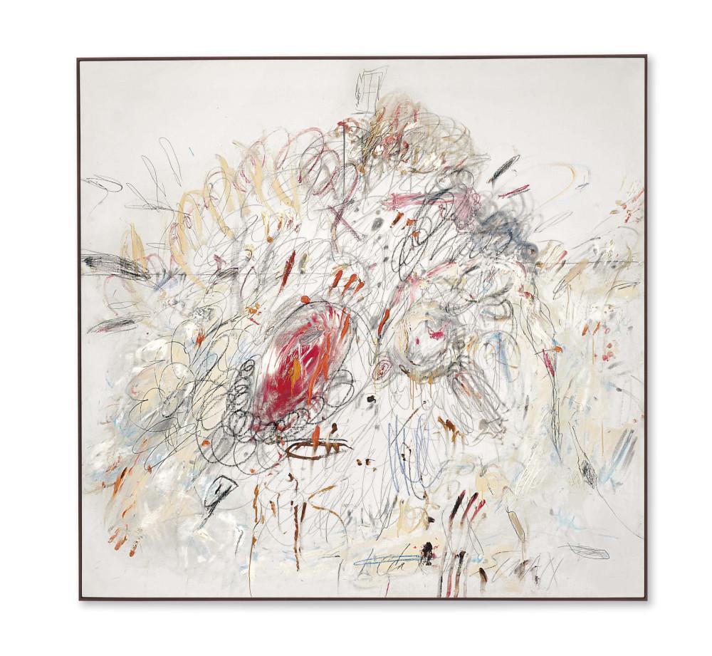 Сай Твомбли (1928-2011) «Леда и лебедь». Картина продана за 52,9 миллиона долларов. Источник: christies.com