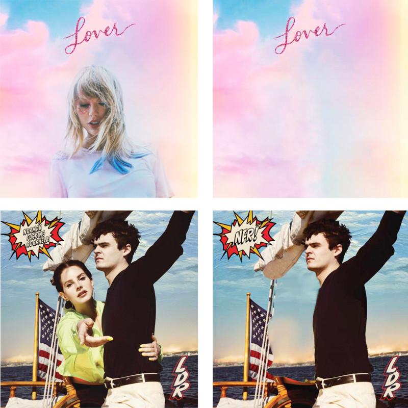 Обложки альбомов Ланы Дель Рей и Тейлор Свифт: обычный вариант VS иранский