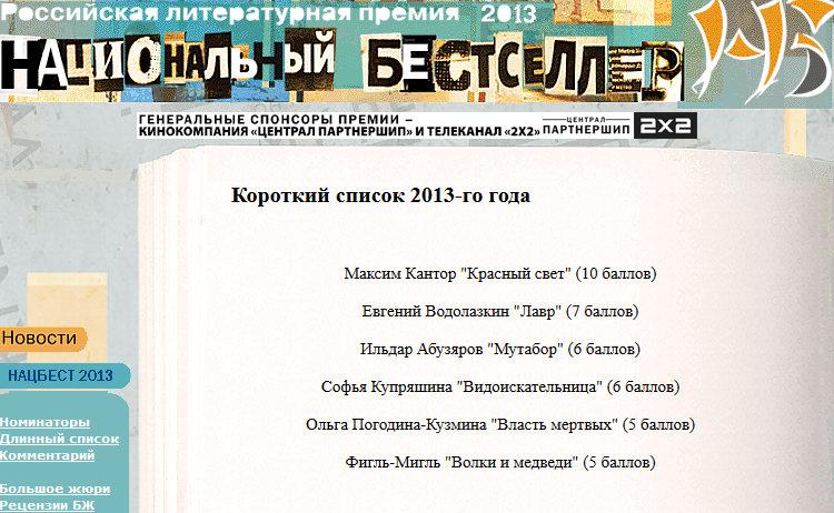 Российская литературная премия «Национальный бестселлер»