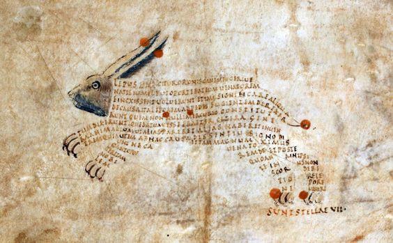 Aratea de Cicerón con la Astronomica de Hyginio. ca. 820-850. British Library, Harley 647, fol. 9r