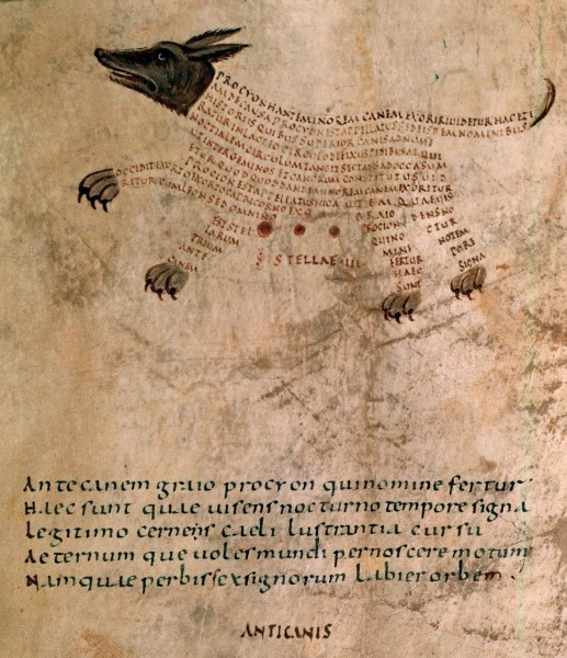 Marcus Tullius Cicero's Aratea, with extracts from Hyginus's Astronomica. France, 9th century