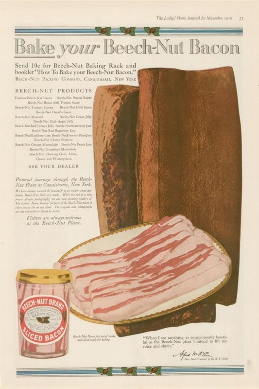 Beech Nut Made Bacon Too Vintage Ads