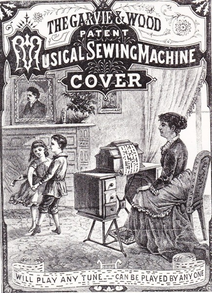 musical sewing machine cover