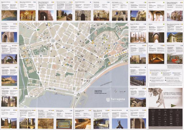 Карта Террагоны и путеводитель по достопримечательностям.